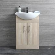 Hudson Reed Meuble-lavabo 55x78x43cm Classic Oak