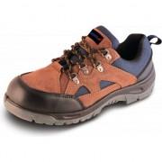 Pantofi de protectie P2, din piele intoarsa, marime: 43, cat.S1 SRC