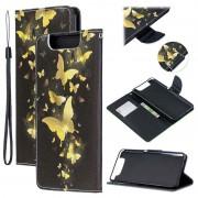 Bolsa tipo Carteira Wonder Series para Samsung Galaxy A80 - Borboleta Dourado