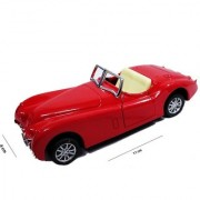 Emob 132 Die Cast Metal Master Classic Convertible Pull Back Vintage Car for Kids (Red)