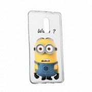 Husa Silicon Transparent Slim Minion Whaaat Huawei Honor 5C Honor 7 Lite
