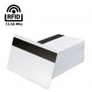 100 Tessere in PVC RFID13,56 Mhz ISO 14443A 1K con Banda Magnetica HiCo.