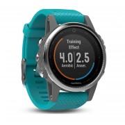 Garmin Fenix 5S - Мултиспорт GPS спортен часовник (сребрист с тюркоазена каишка)