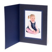 7x5 / 5x7 Blue Karnival Photo Folder - Portrait