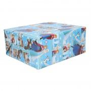 Disney 3 rollen Pakpapier Frozen blauw