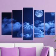 Декоративен панел за стена с небесна рапсодия в тъмносиня гама Vivid Home