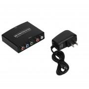 ER HDMI A RGB Componente (YPbPr) Vídeo + R / L Audio Adaptador Convertidor HD TV Negro.