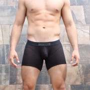 McKillop Bulge Envy Bespoke Low Rise Long Boxer Brief Underwear Black BLXMO-BK1
