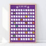 Gift Republic Póster de lista de cubos (100 unidades), color granate