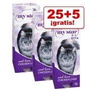 My Star 30 x 85 / 90 g comida en tarrinas en oferta: 25 + 5 ¡gratis! - Rocker con pollo (mousse)