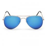 Sunmania Pilotky zrkadlové okuliare 008 modré