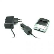Chargeur batterie (secteur & voiture) pour Kodak Klic-5001: Easyshare DX6490, DX7440, DX7590, DX7630, P712, P850, P880, Z730, Z760, Z7590
