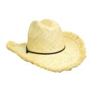 Headwear Professional Frayed Edge Cowboy Straw Cap S4280