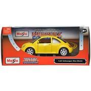 Maisto Volkswagen New Beetle Scale-1:25 Die Cast Toy Car (Yellow) -EduToys
