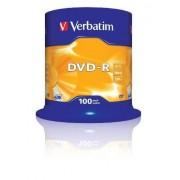 Mediu optic Verbatim DVD-R 4.7GB 16x 100 bucati argintiu mat