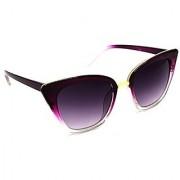 HRINKAR Men's Grey Mirrored Cat-eye Sunglasses