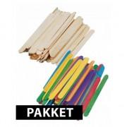 Shoppartners Houten knutsel stokjes pakket