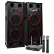 "Impianto Karaoke ""STAR-Schöneberg"" Casse PA 1200W   Set Radiomicrofoni VHF 2 canali"