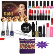 Color Diva Bullets Bold Makeup Combo Set Of 28 With Free Trendy Hand Bag