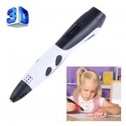 Gen 6 ABS / PLA Filamento Niños BRICOLAJE Dibujo 3D Printing Pluma Con Pantalla LCD (blanco + Negro)
