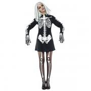 Skelettklänning Maskeraddräkt