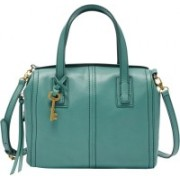 Fossil Women Casual Green Genuine Leather Satchel