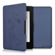 kwmobile Flipové pouzdro s designem motýl pro Amazon Kindle Paperwhite 3 - tmavě modrá