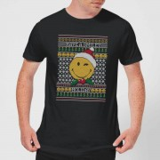 Smiley World Have A Smiley Holiday Men's Christmas T-Shirt - Black - L - Black