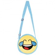 Smiley World Face With Tears of Joy Sling Bag Yellow 8 Inch by Ultra
