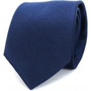 Krawatte Seide Dunkelblau Motiv - Dunkelblau