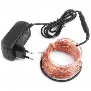 ER Elegante Impermeable Estilos 5M Cable De Cobre Fairy LED Luces De Cadena 5V 1A