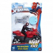 Hasbro Spider-Man - Ścigacz Blast and Go B9995 Kid Arachnid Na quadzie ATV B9705
