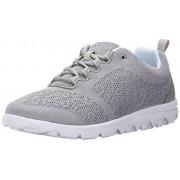 Propet Women's TravelActiv Fashion Sneaker, Silver, 7.5 4E US
