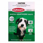 Nuheart Generic Heartgard (Green) for Medium Dogs 26-50lbs - 6 Tablet