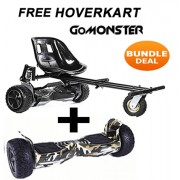 "FREE Suspension Hoverkart with 8.5"" Camo All Terrain Bluetooth Segway Hoverboard - Bundle Deal"