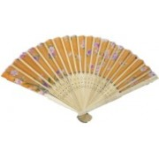 New Jaipur Handicraft Hukum Mere Aaka Foldable Floral Print Orange Hand Fan(Pack of 5)