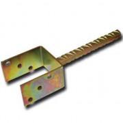 Suport stalp tip U fixare in beton, cu tija, Strend Pro MA2759, 100 mm, Zn FMG-SK-429294
