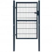 vidaXL 106x250 cm acél kerítés kapu, antracit szürke színben