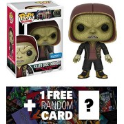 Killer Croc - Hooded (Walmart Exclusive): Funko POP! x Suicide Squad Figure + 1 Free Official DC Trading Card Bundle (114387)
