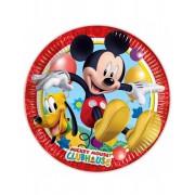 8 Pratos de cartão Mickey Mouse