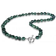 JwL Luxury Pearls Náhrdelník z pravých smaragdově zelených perel JL0366