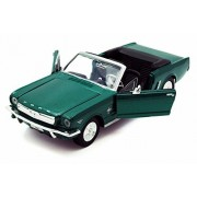 1964 1/2 Ford Mustang Convertible, Green - Motormax 73212 - 1/24 scale Diecast Model Toy Car