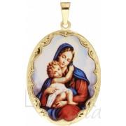 Mohutná zlatá smaltovaná madonka s dítětem ze žlutého zlata 585/5,97gr 3320106