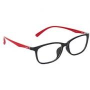 Zyaden Black & Red Rectangle Eyewear Frame 240