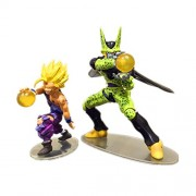 2pc/set Dragonball Resin Action Figures Toy Cell VS Son Gohan Action Figure Toy 7-9cm