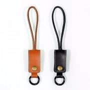 Luxury leather key chain Lightning To usb Cable For Iphone 6 6S 6+ 6S+ 5 5S 5C 5SE Ipad Mini Ipad Air Ipad Air 2 Ios 9