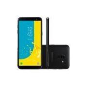 Smartphone Samsung Galaxy J6 SM - J600GZKVZTO, Octa Core, Android 8.0,Tela 5.6, 64GB, 13MP, TV Digital HD, Dual Chip, Desbl - Preto