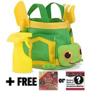 Tootle Turtle Gardening Tote Set: Sunny Patch Outdoor Play Series + FREE Melissa & Doug Scratch Art Mini-Pad Bundle