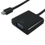 Преходник Roline S3205-10, от Mini DisplayPort (м) - VGA (Ж) , 0,15м, черен