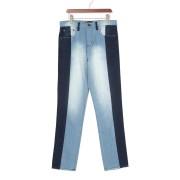 【56%OFF】ウォッシュ 切替 デニム ブルー/ダークブルー 34 ファッション > メンズウエア~~パンツ